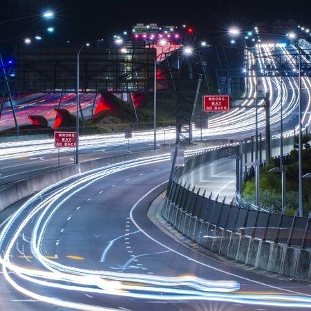 Gateway Bridge (Sir Leo Hielscher Bridges) in Brisbane, Queensland, Australia.