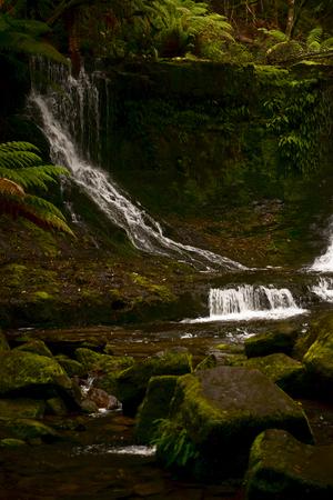 Beautiful Horseshoe Falls in Mount Field National Park, Tasmania, Australia. Stock Photo