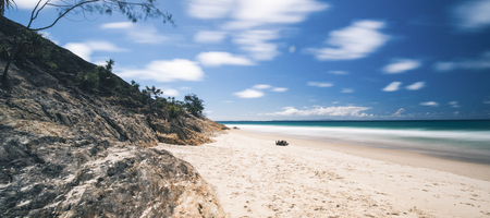 Beautiful Adder Rock beach on Stradbroke Island, Queensland