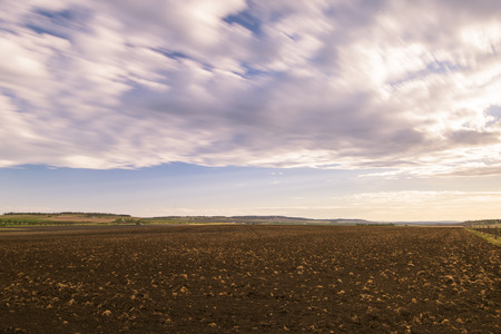 Farming field in Toowoomba, Australia during the daytime. Stock Photo