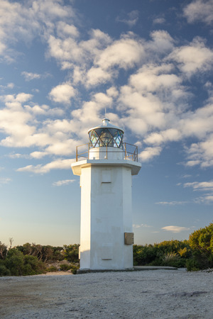 Rocky Cape Lighthouse during the daytime in Tasmania. Stock Photo