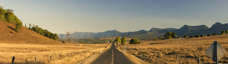 View of the dry countryside in Tarome, The Scenic Rim, Queensland. Stock Photo