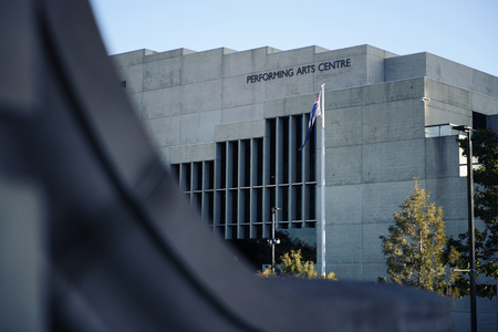 Brisbane, Australia - Sunday 19th August, 2018: View of the Performing Arts Centre building during the day on Sunday 19th August, 2018. Editorial