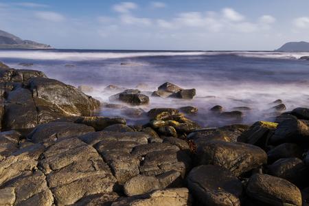 Beautiful view of Cloudy Bay in Bruny Island, Tasmania, Australia.
