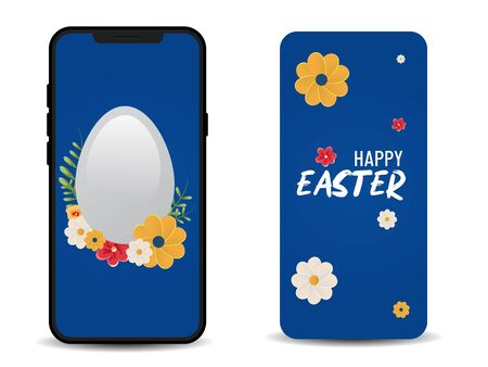 Happy Easter. Egg Hunt. Easter design use for cell phone wallpaper and back cover of cellphone.