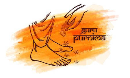 Sketching vector Illustration for the Day Of Honoring Celebration Guru Purnima. Illustration