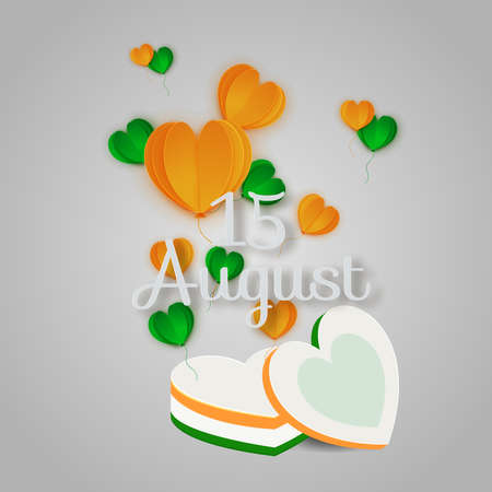 Indian independence day concept of love is in the air , freedom of love ,15 august