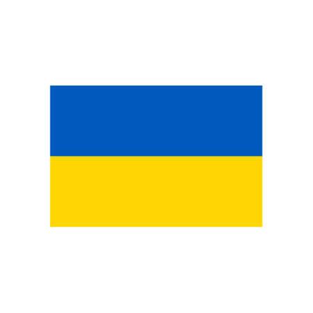 Vector illustration of national flag of Ukraine. Ukrainian flag.