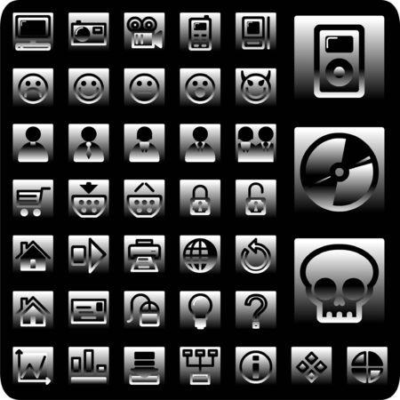 metalic: Metallic-Icon-Set