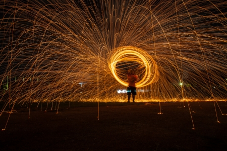 Fire dancing  photo
