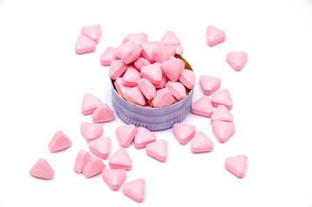 pink medicine pills photo