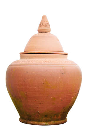 Clay pottery used as water jar in Thailand  Stock Photo - 22805525