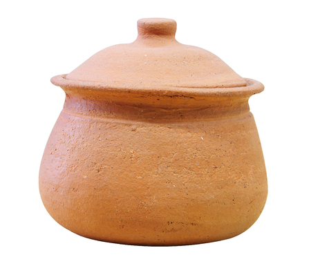 Clay pottery used as water jar in Thailand Stock Photo - 22805607
