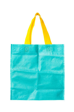fabric bag: blue fabric bag isolated