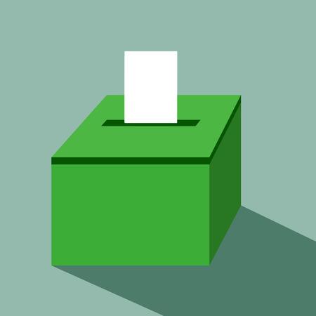 vote label: vote label with ballot box vote vector illustration