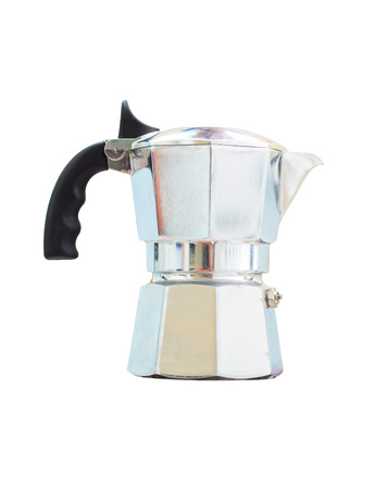 with coffee maker: Coffee Pot, coffee maker on white background.