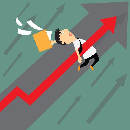 uptrend: Business uptrend concept, vector illustration. Illustration