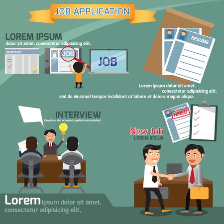 job application infographics element, business concept vector illustration. Vector