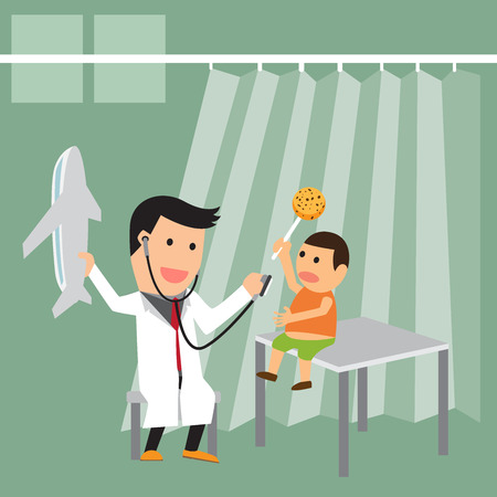 see a doctor: see a doctor, vector concept illustration.