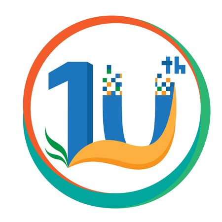 10th: 10th years Anniversary Icon template. vector illustration.