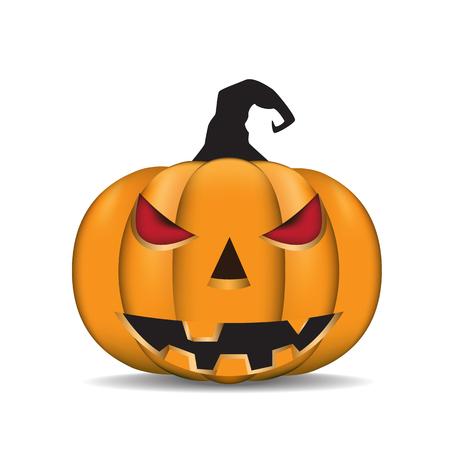 jack'o'lantern: Jack-O-Lantern. Halloween pumpkin. Vector illustration.
