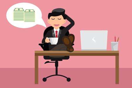 Image result for businessman relax dreaming illustration