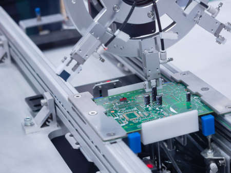 Green Electronic Circuit Board Production Industrial With modern techniques.