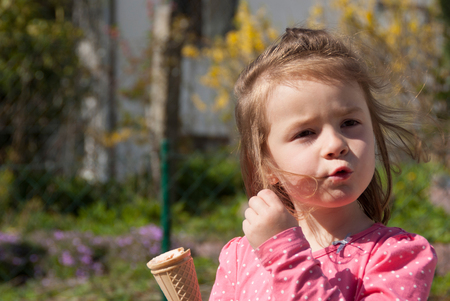hilarious: A little girl turning her hair whistles hilarious