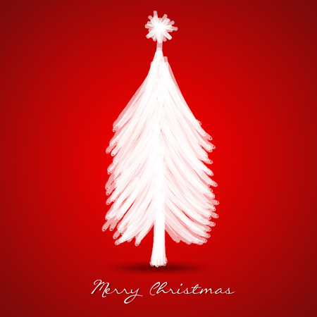 christmas tree greeting card template vector illustration banner design merry christmas card layout - Christmas Card Layout