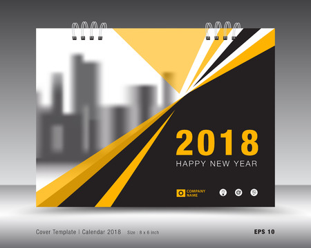 Cover calendar 2018 template design