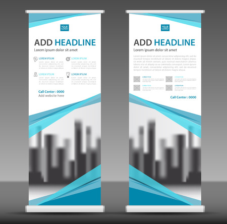 Roll up business brochure banner design. Vectores