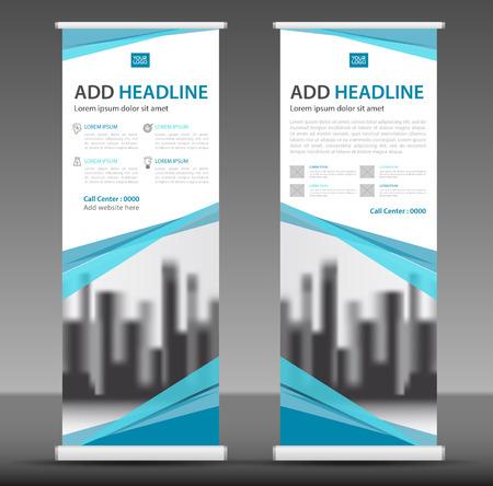 Roll up business brochure banner design. Vettoriali