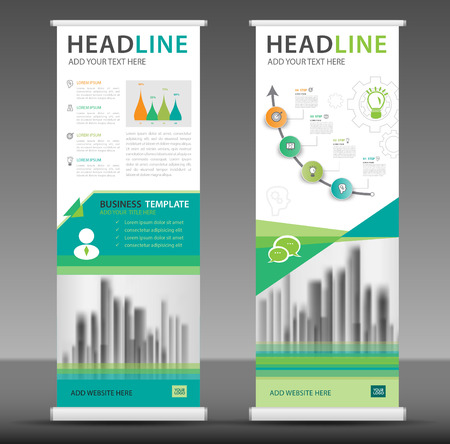 Roll up banner stand template design, business brochure flyer, infographics, presentation, advetisement, marketing, ads, poster, polygon backgrond