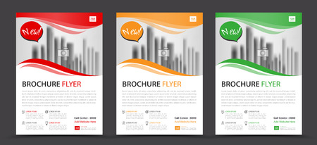 Business brochure flyer template, annual report, cover design