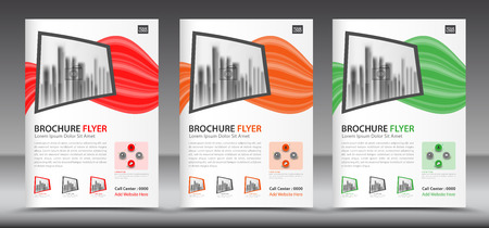 Business brochure flyer template, annual report, cover design, magazine ads Illustration