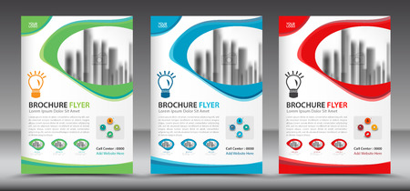 Business brochure flyer template, annual report, cover design, magazine ads 向量圖像