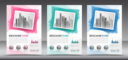 Business brochure flyer template, annual report, cover design, magazine ads,leaflet Illustration