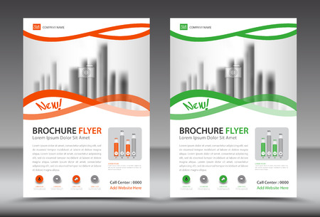 Business brochure flyer template, annual report, cover design, advertisement, printing, magazine ads, book Illustration