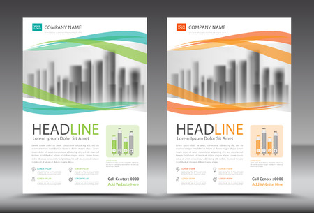 Business brochure template, annual report, cover design, advertisement, printing, magazine ads, leaflet