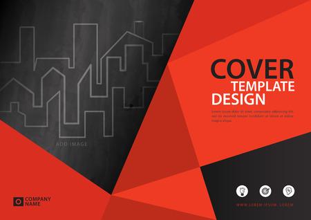 Orange cover template for business industry, Real Estate. vector illustration Banque d'images - 95457246