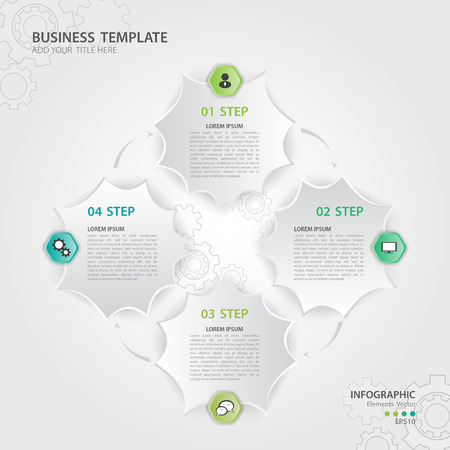 Infographic elements vector for business, web icon, presentation, Gear background, icon, polygon, template