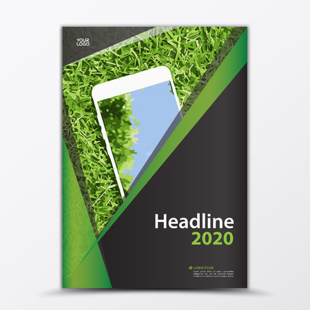 Mobile Apps Flyer, cover design, smartphon ad, annual report Cover template, business brochure flyer layout, Book cover, magazine poster, Banner, leaflet, Advertisement vector