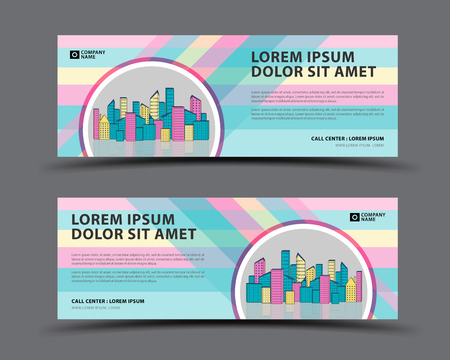 Banner template vector pastel background, web banner template, billboard design, header page, Business flyer vetical layout, Modern Art graphics for website, gift card, advertisement
