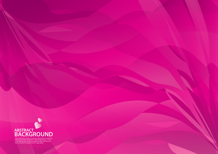 Pink Abstract background, texture design, vector illutration, valentines or wedding background, cover, flyer, advertisement, Horizontal paper