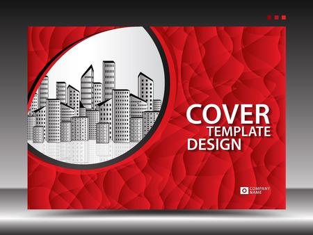 Modello di copertina rossa per pubblicità, industria, immobiliare, casa, cartellone pubblicitario, presentazione, brochure flyer, copertina del rapporto annuale, libro, pubblicità, layout di stampa, sfondo poligonale, vettoriale, a4 Vettoriali