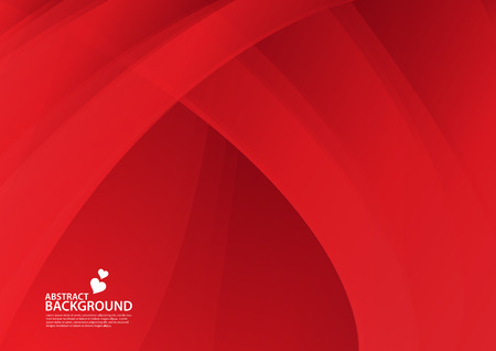 Red Abstract background, texture design, vector illutration, valentines or wedding background, cover, flyer, advertisement, Horizontal paper Standard-Bild - 123497081