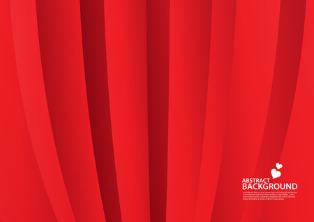 Red Abstract background, texture design, vector illutration, valentines or wedding background, cover, flyer, advertisement, Horizontal paper Standard-Bild - 121958692