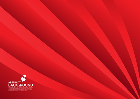 Red Abstract background, texture design, vector illutration, valentines or wedding background, cover, flyer, advertisement, Horizontal paper Standard-Bild - 123497083