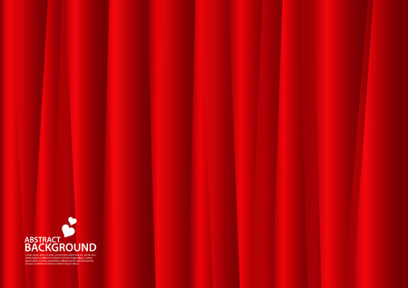Red Abstract background, texture design, vector illutration, valentines or wedding background, cover, flyer, advertisement, Horizontal paper Standard-Bild - 123497085