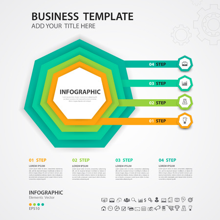 Infographics design vector template, Timeline, process chart, presentation, diagram, creative concept for infographic, web page, banner, business step options 일러스트